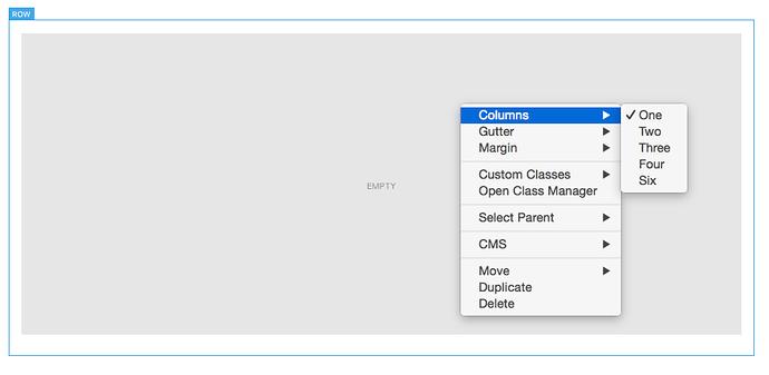 columns - context menu