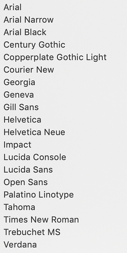 Where did all the web safe fonts go? - I Need Help - Blocs Forum