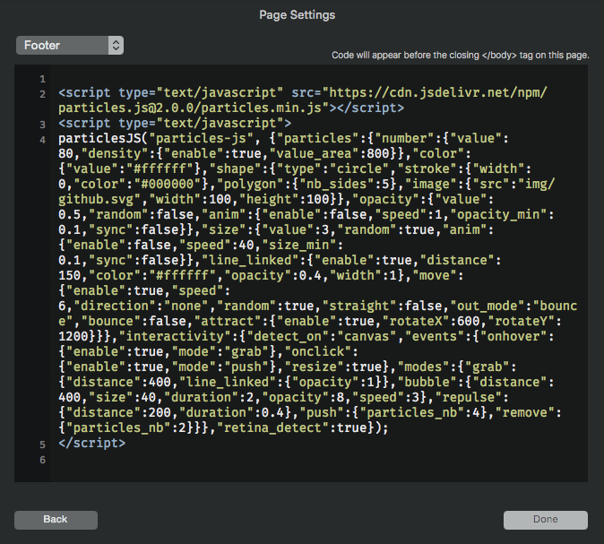 Page-Settings-Add-Code-Footer