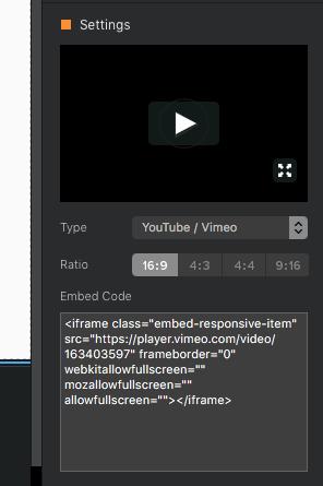 Youtube/Vimeo video integration - Wish List - Blocs Forum