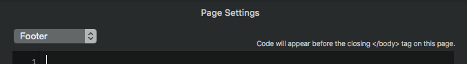 body tag page settings