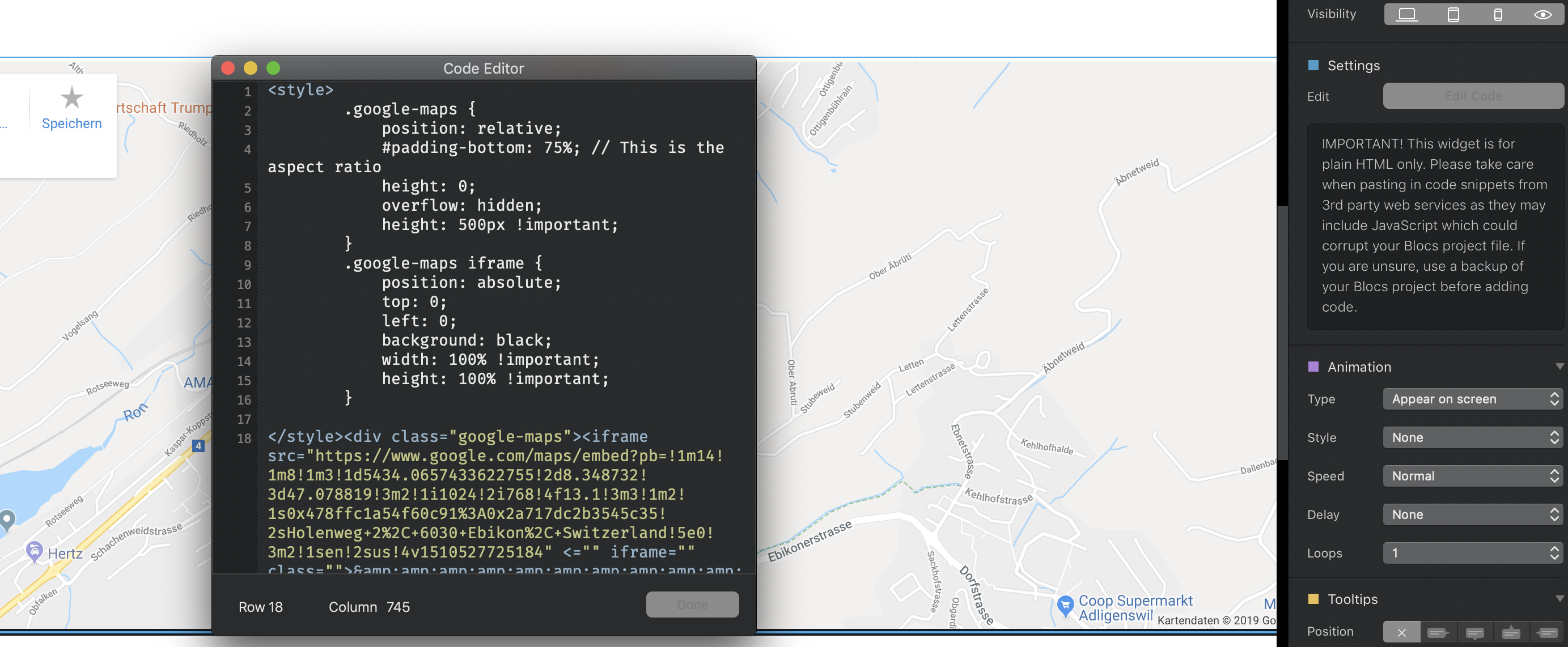 Google Maps with markers- Works with Freeway Pro - I Need Help